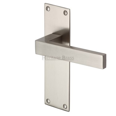 M.Marcus Door Handle, Metro Satin Nickel MET4900