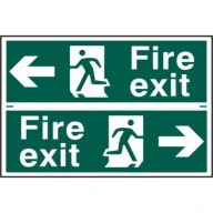 fire exit/running man sign