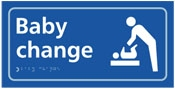 baby changing sign