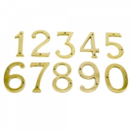 75mm polished brass numerals
