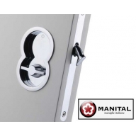 manital art85b otto sliding door set with wc turn, flush pull & lock