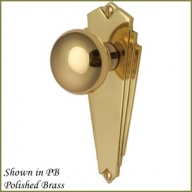 broadway art deco polished brass knob furniture