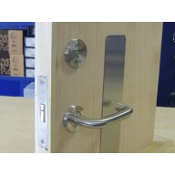 disabled sliding toilet facility door lift to lock set