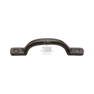 fb1090 smooth black iron cabinet pull handle