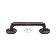 fb376 smooth black iron cabinet pull handle