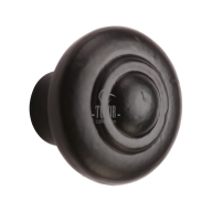 fb3985 smooth black iron cabinet knob
