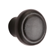 fb3990 smooth black iron cabinet knob