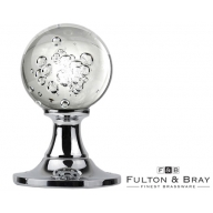 fb403cp fulton & bray bubbled glass mortice knobs