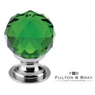 fulton & bray fch03 polished chrome glass ball cabinet knob