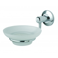 lw13cp tempo soap dish holder & glass dish