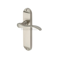 may7600 maya levers satin nickel