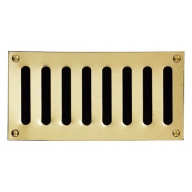 plain slotted polished brass vents