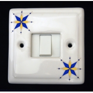 porcelain single switch - galaxy (complete with electrics)