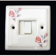 porcelain single switch - (complete with electrics)