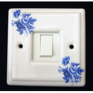 porcelain single switch - saxony (complete with electrics)