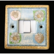 porcelain single switch - springtime (complete with electrics)