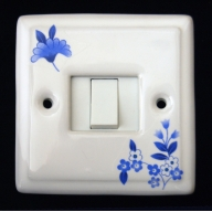 porcelain single switch - verity (complete with electrics)