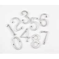 75mm satin chrome door numerals
