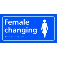 female changing sign