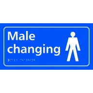 male changing sign