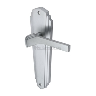 art deco chrome door handle - WAL6500