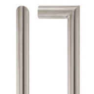 satin stainless steel mitred pull handle