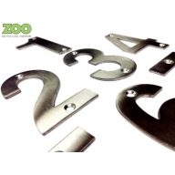 zsn zoo satin stainless steel 102mm numeral