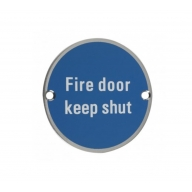 zsa09 76mm fire door keep shut sign saa