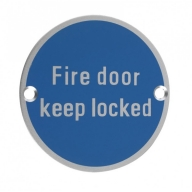 zsa10 76mm fire door keep locked sign saa