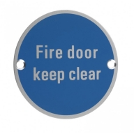 zsa11 76mm fire door keep clear sign saa
