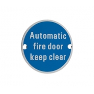 zsa12 76mm automatic fire door keep clear sign saa