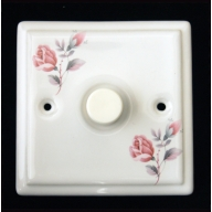 porcelain dimmer switch - june rose (complete with electrics)