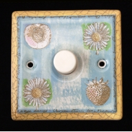 porcelain dimmer switch - springtime (complete with electrics)