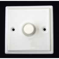 porcelain dimmer switch - white (complete with electrics)
