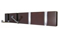 headbourne hr7012x 4-concealed hook polished chrome on dark wooden rack board hanger