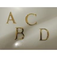 50mm polished brass door letters