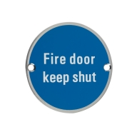 zss09 76mm fire door keep shut sign