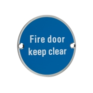 zss11 76mm fire door keep clear sign