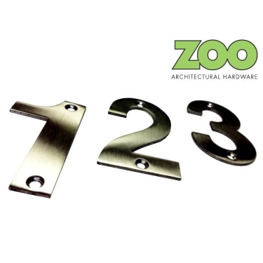 ZSN Satin Stainless Steel Numeral 75mm
