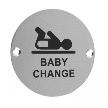 ZSA08 76mm Baby Change Sign SAA